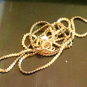 Cadena Serpentine De 40cm 2.1g Oro Amarillo 14k Para Dama
