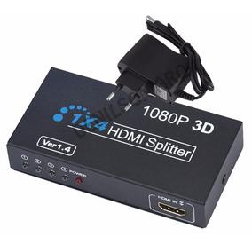 Splitter Hdmi 1x4 Activo Ver.1.4 Fullhd 1080p Soporta 3d