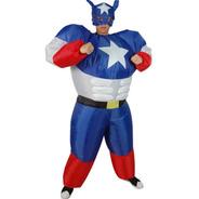 Disfraz Inflable Para Adulto En Forma De Capitan America
