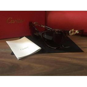 Lentes Gafas De Sol Cartier Grandes Mujer Moda Aviador Ray