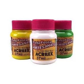 Tinta Fosca Para Artesanato Pva 37ml Acrilex Kit 16 Cores