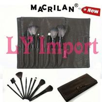 Macrilan Kit Luxo Com 8 Pincéis Profissionais E Estojo