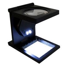 Lupa Cuenta Hilo Con Led 30 Mm 8x Metal Cristal Obi