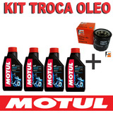 Kit Troca Oleo + Filtro Cb 600f Hornet Motul 3000 20w50 Sl