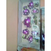 Esferas Navideñas Decorativas Fiusha Forma De Hongo