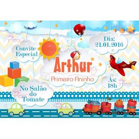 Arte Convite Digital Brinquedos - Imprimir Em Casa