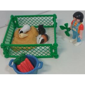 Playmobil - Criador De Porcos Da Índia - Acessórios - W 569