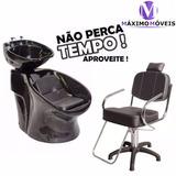 Lavatório Italiano Shampoo+ Cadeira Hidráulica
