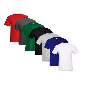 Kit 8 Camisetas Básicas Masculina Sem Estampa 100% Algodão