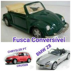 3 Miniaturas Maisto Bmw Fusca Chrysler Frete Grátis