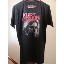 Remera Manga Kurt Cobain
