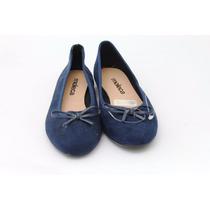 Moleca Sapatilha Azul Com Laço 0102 - Barato