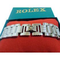 Pulsera Brazalete Esclava Rolex Acero Inoxidable Super Ancha