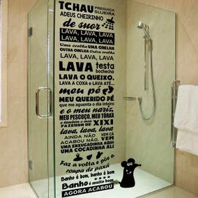 Adesivo Box De Banheiro Ratinho Castelo Rá Tim Bum 50x180cm