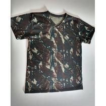 Camiseta Infantil Camuflada Exército Brasileiro Original
