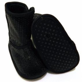 Zapato Para Bebe, Botita Para Bebe, Bota Lentejuela Negra