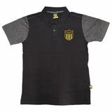 Camiseta Polo Remera Peñarol Fútbol Concentración De Adulto