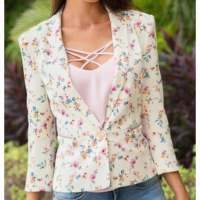 Saco Casual Holly Land Estampado Floral 172173 Mm Envio Grat