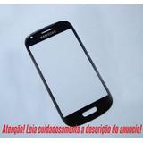 Vidro Frontal Samsung Galaxy S3 Mini Preto (somente O Vidro)
