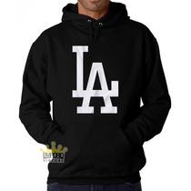 Moletom Los Angeles La Dodgers Mlb Blusa Blusao Capuz Bolso