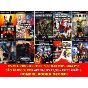 Liga Da Justiça Play 2 (10 Jogos Ps2 Justice League Heroes