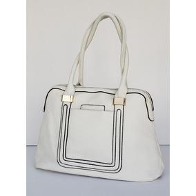Cartera Color Blanco De Pu, Cuero Ecologico K1145-11