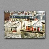 Quadro Colours | Decorativo Moderno Telhados Paris