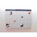 Pizarra Magnetica De Pared Calendario Iman Incluye Marcador