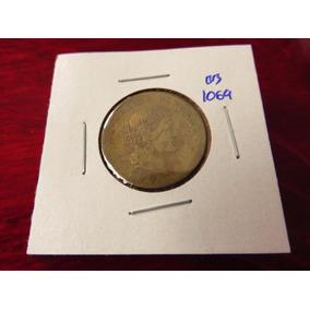 Bb#1069 Moneda Del Mundo 20 Centavos Peru 1960