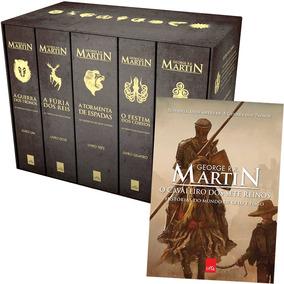 Box Crônicas Gelo E Fogo 5 Livros E Livro Cavaleiro 7 Reinos