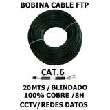 Bobina Cable Ftp Utp 20 Mts Cat.6 100% Cobre Exterior Dato