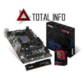 Kit Amd Gamer A6 7400k + A68hm-e33 V2 Msi + 4gb Hyperx