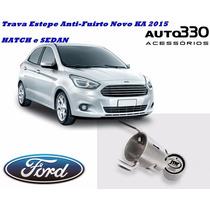 Trava De Estepe Step Anti Furto Novo Ford Ka Hatch E Sedan
