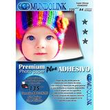 Papel Fotografico Brillante Adhesivo Stiker 50 Hojas Tam A4