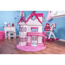 Casa Barbie Casinha De Bonecas Palácio E Moveis Pintura S-b