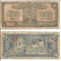 Si-mex-11 Billete Del Estado Libre Y Soberano De Mexico De 1