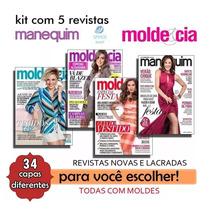 Revistas Molde E Cia Manequim Moda Costura Novas - Kit Com 5