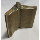 Muy Rara Botellita Ceramica Vino Cabrini, Libro Abierto, Exc