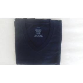 Camiseta Preta Gola V 100%algodão Calvin Klein Nova Origin