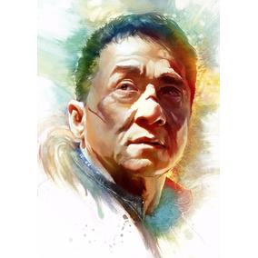 Poster Jackie Chan Kung Fu Arte Desenho A3 42x29cm