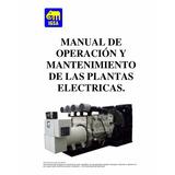 Manual De Mantenimiento Y Operaciones De Plantas Electricas