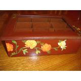 Cajas De Te Madera Artesanal Country Rustico Decorativo