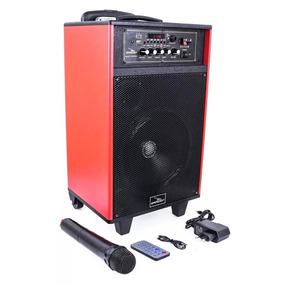 Caixa Som Amplificada Bluetooth Usb/sd Mic. S/ Fio 1000wpmpo