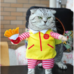 Roupa Pet Fantasia Para Gato Mc Donalds