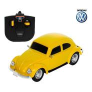 Carrinho De Controle Remoto Brinquedo Fusca Clássico Carros