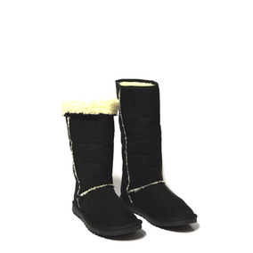 Botas Para Neve Frio Tipo Australiana Preto Forrada Com Lã