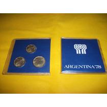 3 Monedas Mundial 78 Blister Edición 1977