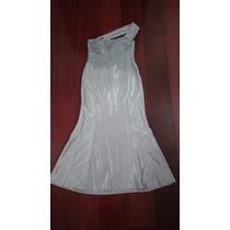 Vestido De Festa/madrinha - Bordado - Prata - Elastano
