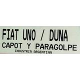 Máscara Cubre Trompa Capot Y Paragolpe. Fiat Uno/duna