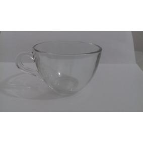 02 Xícara Chá Sem Pires Transparente Super Pesada